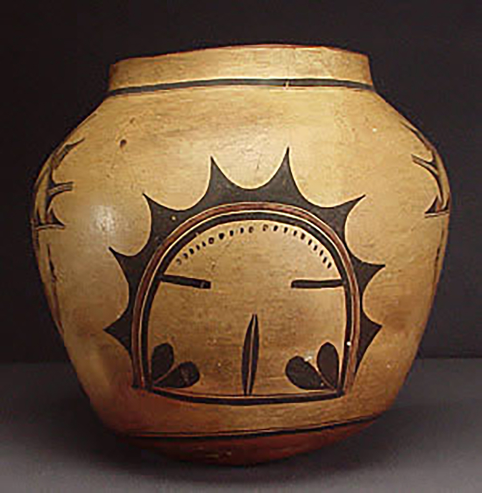 Polacca Polychrome jar, around 1900. ASM #GP913-x-1.