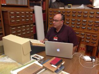 Dr. Michael M. Brescia at the Autry National Center of the American West (Los Angeles), examining documents there in order to better understand Spanish civil law as it relates to property and water rights in the American Southwest.