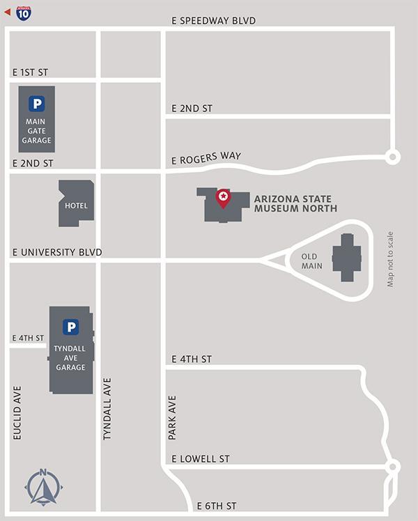 Map Of Just Arizona.Plan Your Visit Arizona State Museum