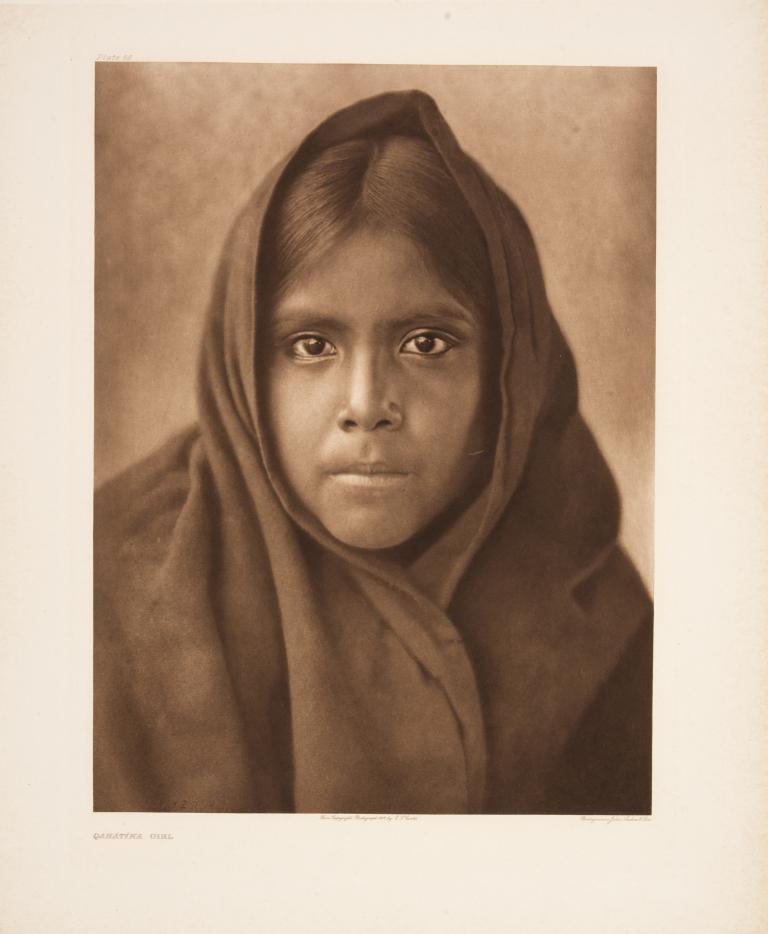 Qahatika Girl, Edward S. Curtis photographer (Plate 56, Volume 2)