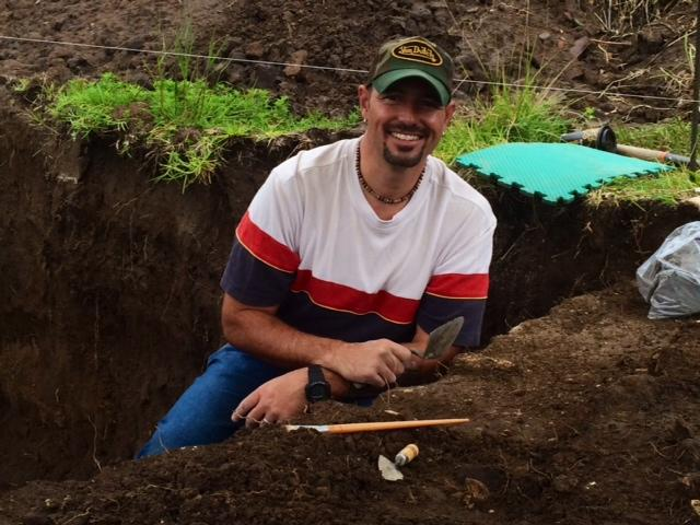 Dr. James T. Watson, associate curator of bioarchaeology, excavating in Mexico.